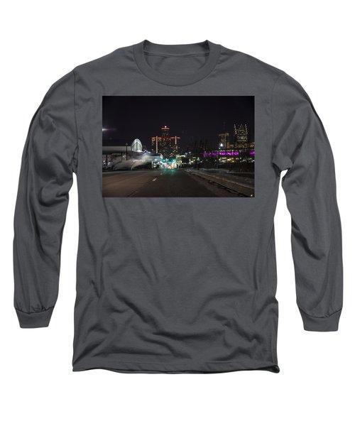 Long Sleeve T-Shirt featuring the photograph Detroit Michigan by Nicholas Grunas