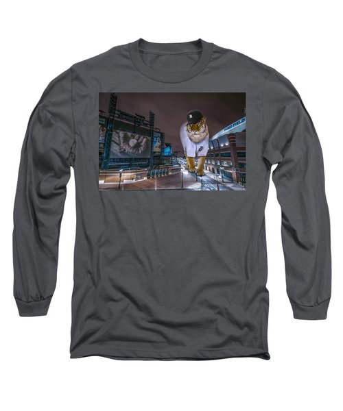Detroit Tigers At  Comerica Park Long Sleeve T-Shirt