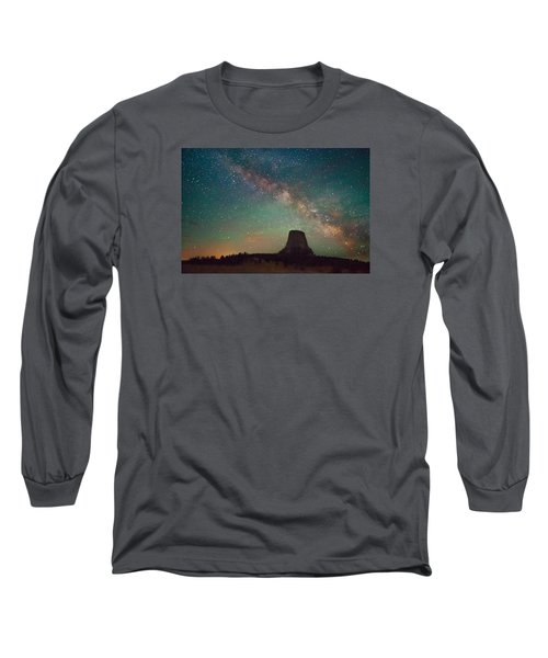 Devils Tower Lights Long Sleeve T-Shirt