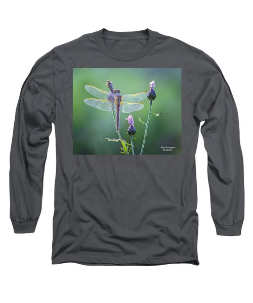 Dew Laden Dragonfly Long Sleeve T-Shirt