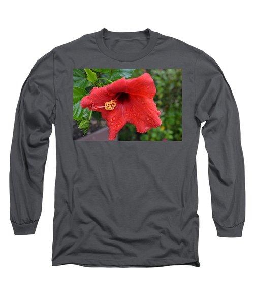 Dew On Flower Long Sleeve T-Shirt
