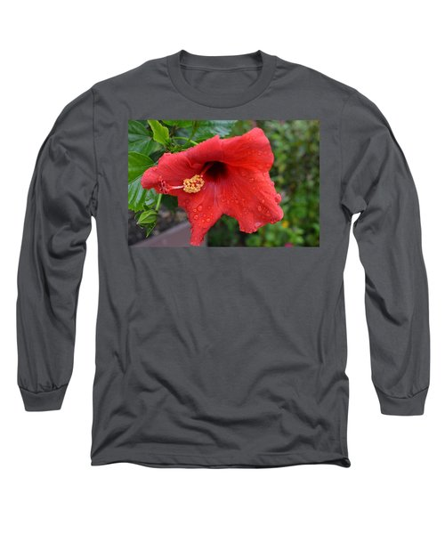 Dew On Flower Long Sleeve T-Shirt