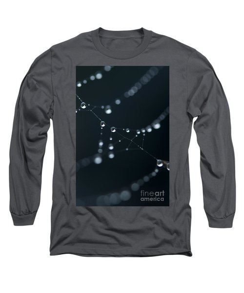 Dewdrop On Cobweb 002 Long Sleeve T-Shirt