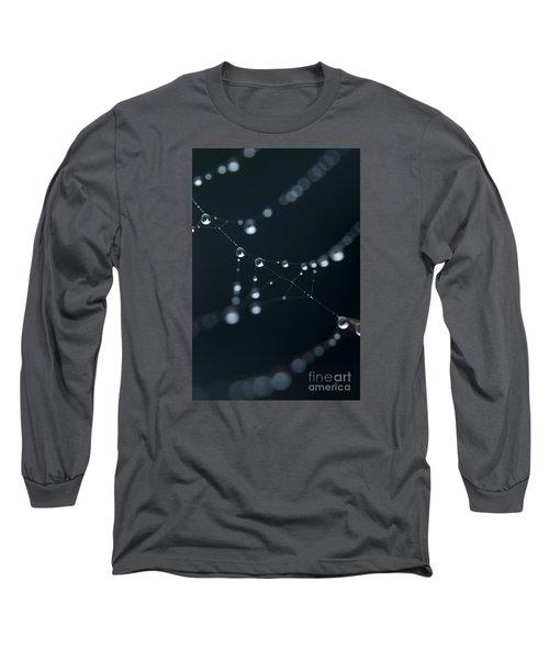 Dewdrop On Cobweb 002 Long Sleeve T-Shirt