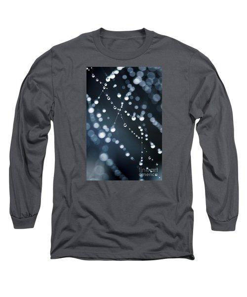 Dewdrops On Cobweb 003 Long Sleeve T-Shirt