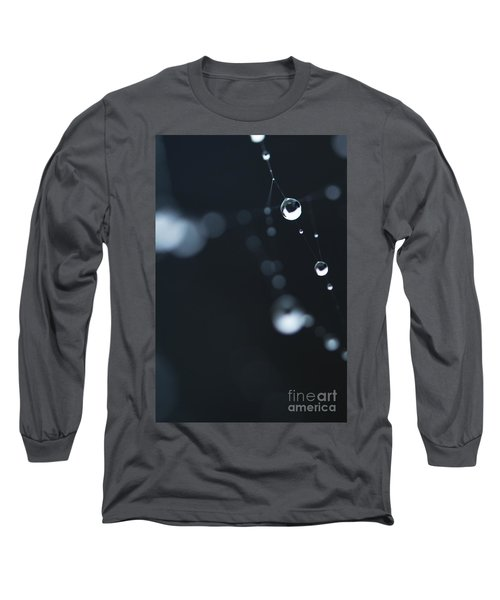 Dewdrops On Cobweb 004 Long Sleeve T-Shirt