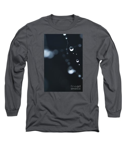 Dewdrops On Cobweb 004 Long Sleeve T-Shirt