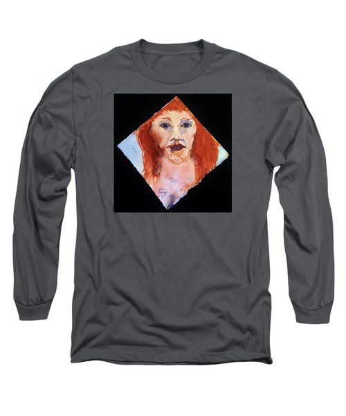 Long Sleeve T-Shirt featuring the painting Diamond Girl by Rand Swift
