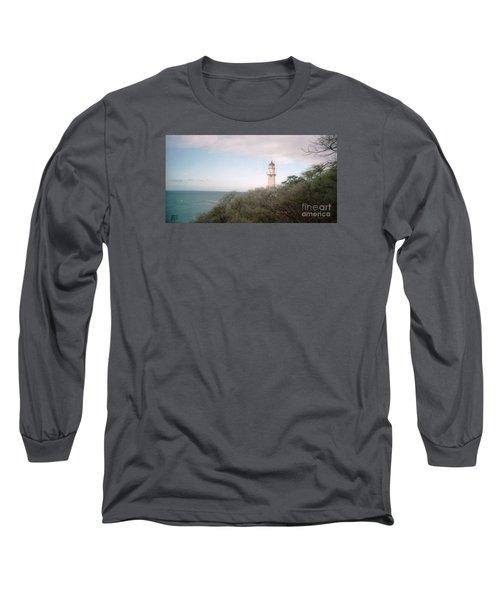 Diamond Head Light House Long Sleeve T-Shirt by Ted Pollard