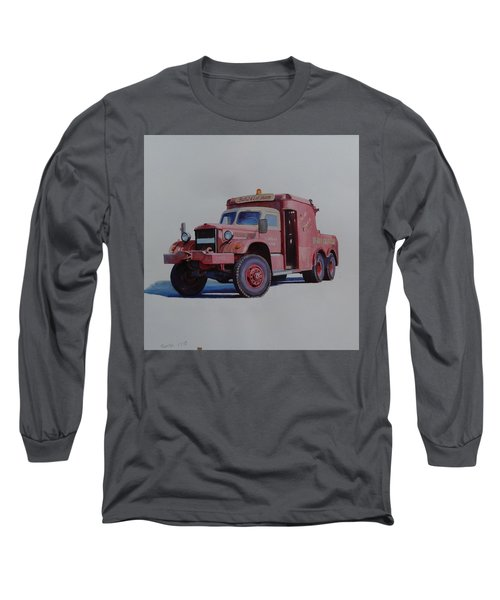 Long Sleeve T-Shirt featuring the painting Diamond T Wrecker. by Mike Jeffries