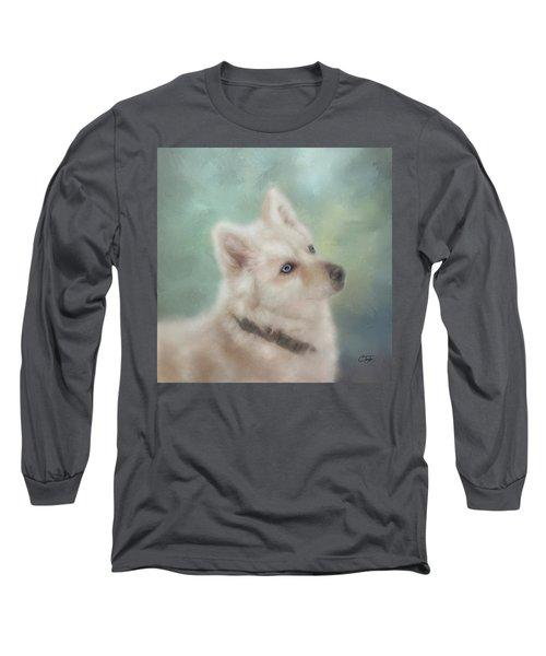 Diamond, The White Shepherd Long Sleeve T-Shirt