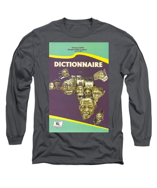 Long Sleeve T-Shirt featuring the painting Dictionary Of Negroafrican Celebrities 1 by Emmanuel Baliyanga