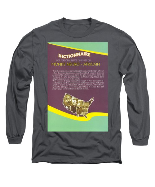 Long Sleeve T-Shirt featuring the painting Dictionary Of Negroafrican Celebrities 2 by Emmanuel Baliyanga
