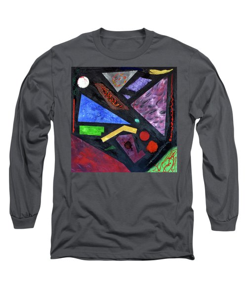 Long Sleeve T-Shirt featuring the painting Differences by Michael Lucarelli