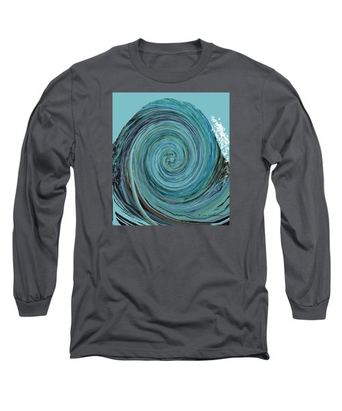 Digital Curl Long Sleeve T-Shirt by Joan Hartenstein