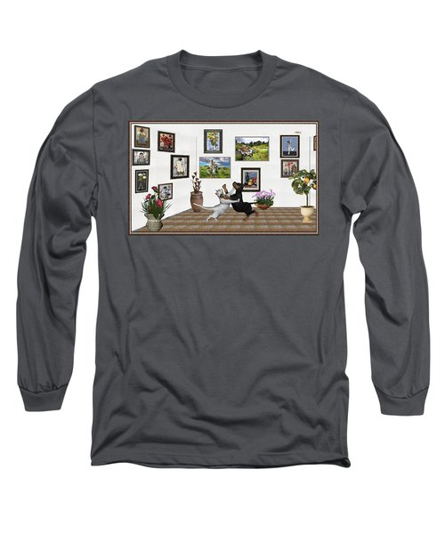 Long Sleeve T-Shirt featuring the mixed media Digital Exhibition _ Dancing Lovers by Pemaro