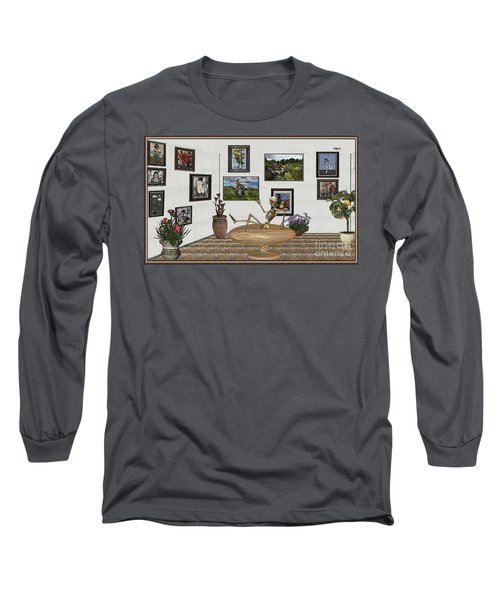 Digital Exhibition _ Relaxation In The Afterlife Long Sleeve T-Shirt by Pemaro