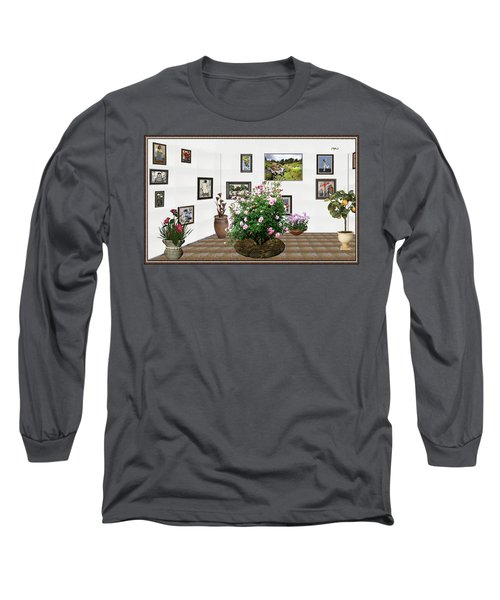 Long Sleeve T-Shirt featuring the mixed media Digital Exhibition _ Roses Blossom 22 by Pemaro