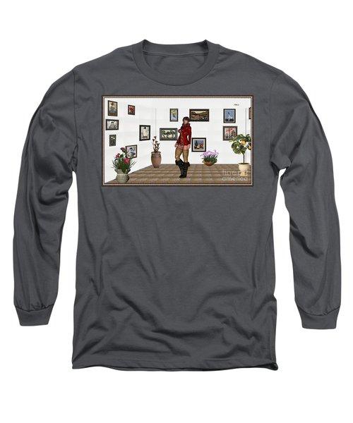 digital exhibition 32  posing  Girl 31  Long Sleeve T-Shirt