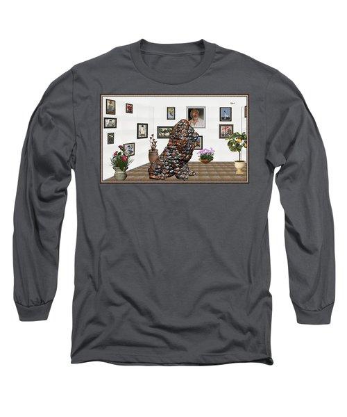 digital exhibition _Modern Statue of scrap Long Sleeve T-Shirt