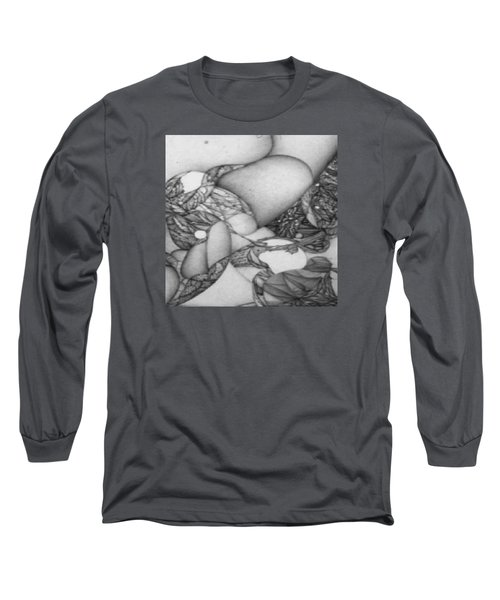 Long Sleeve T-Shirt featuring the drawing Digitized Ballpoin Xxv by Jack Dillhunt