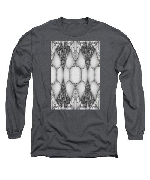 Digitized Ballpoint  Image Twenty Long Sleeve T-Shirt by Jack Dillhunt