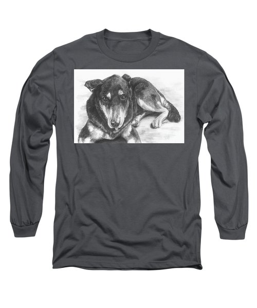 Long Sleeve T-Shirt featuring the drawing Dillon by Meagan  Visser