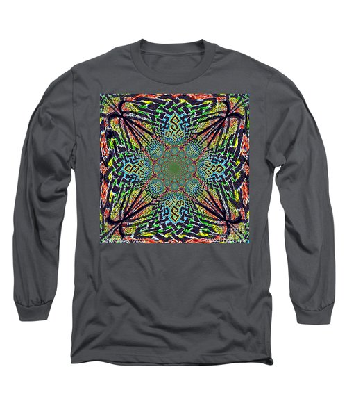 Dimensional Celtic Cross Long Sleeve T-Shirt