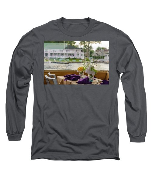Long Sleeve T-Shirt featuring the photograph Dining Aboard The Miss Lotta by Maureen E Ritter