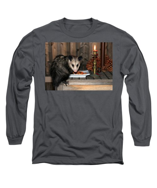 Dining Possums Iv Long Sleeve T-Shirt