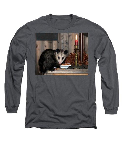 Dining Possums V Long Sleeve T-Shirt