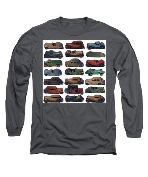 Dinky Car Park Long Sleeve T-Shirt by John Colley