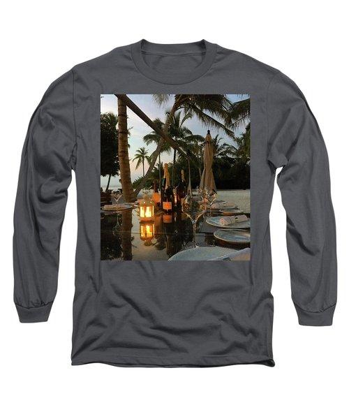 Dinner At The Beach Long Sleeve T-Shirt