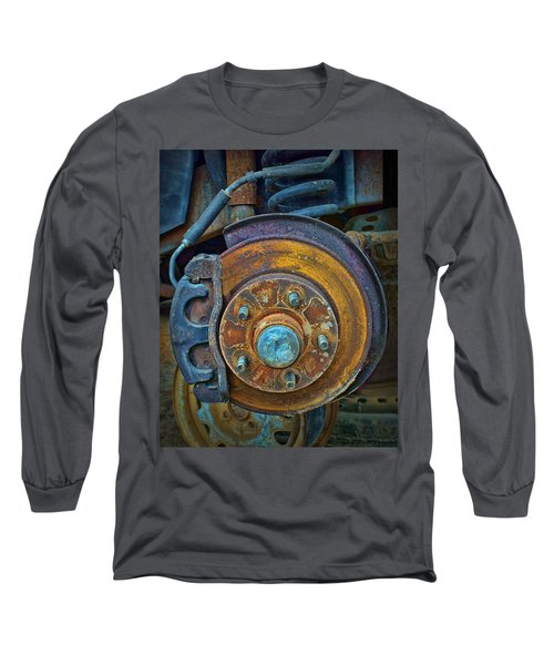 Long Sleeve T-Shirt featuring the photograph Disc Brake Assembly by Nikolyn McDonald