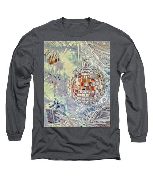 Disco Ball Tree Ornament Long Sleeve T-Shirt