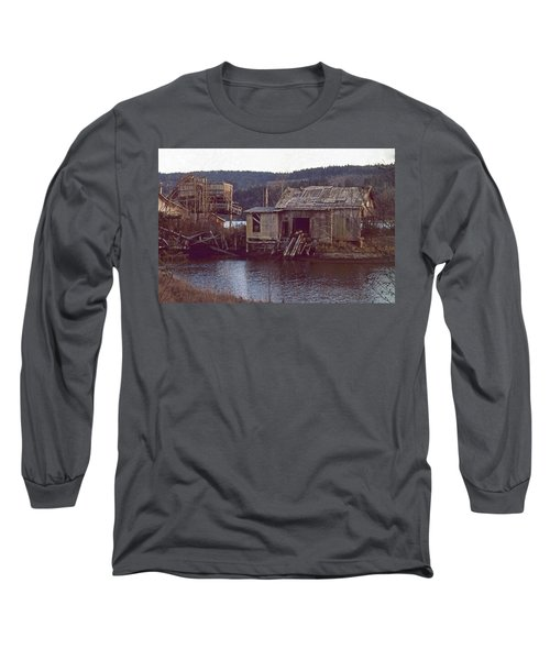 Long Sleeve T-Shirt featuring the photograph Discovery Bay Mill by Laurie Stewart