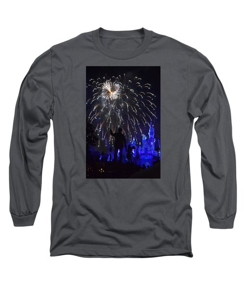 Long Sleeve T-Shirt featuring the photograph Disney Land by Alex King