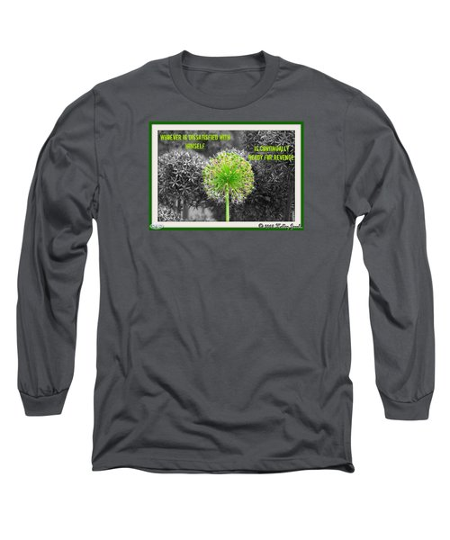 Dissatisfied With Himself Long Sleeve T-Shirt by Holley Jacobs