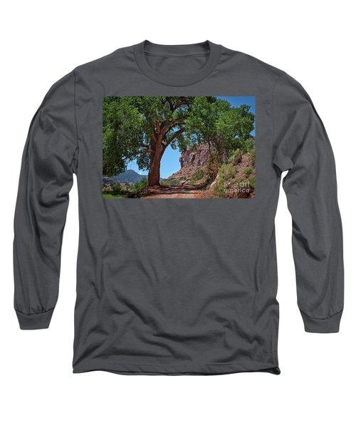Distant Escalante Moon Long Sleeve T-Shirt by Janice Rae Pariza