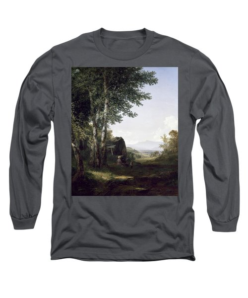Distant View Of The Mansfield Mountain Vermont Long Sleeve T-Shirt
