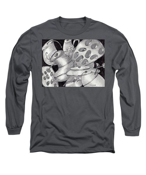 Distorted Images Long Sleeve T-Shirt by Quwatha Valentine