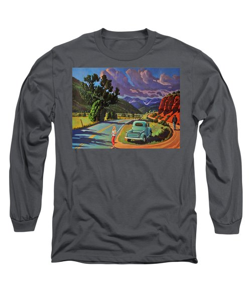 Long Sleeve T-Shirt featuring the painting Divergent Paths by Art West