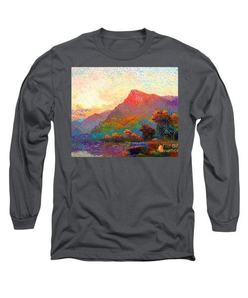 Long Sleeve T-Shirt featuring the painting  Buddha Meditation, Divine Light by Jane Small