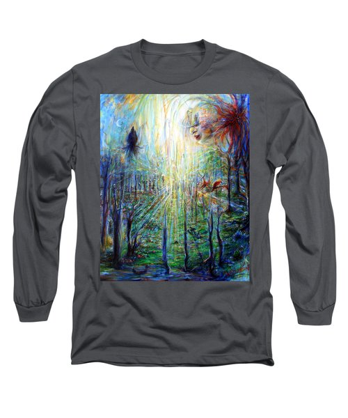 Divine Mother Earth Long Sleeve T-Shirt by Heather Calderon