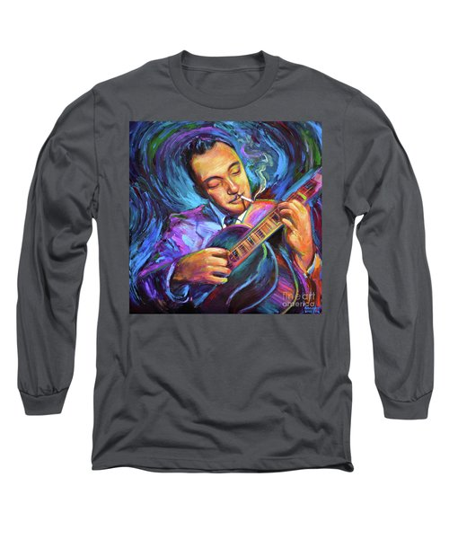 Long Sleeve T-Shirt featuring the painting Django Reinhardt  by Robert Phelps