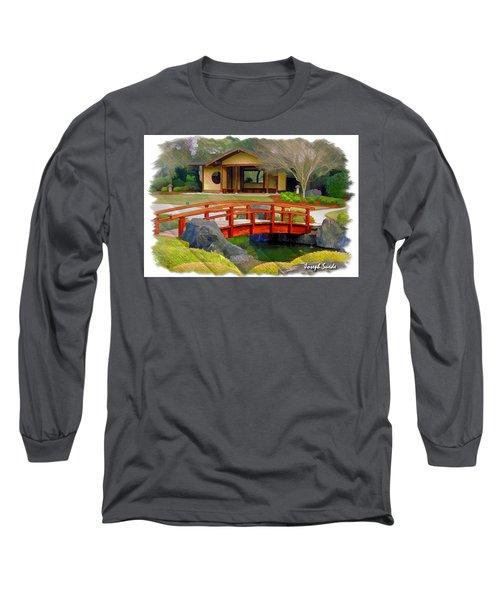 Do-00006 Cypress Bridge And Tea House Long Sleeve T-Shirt