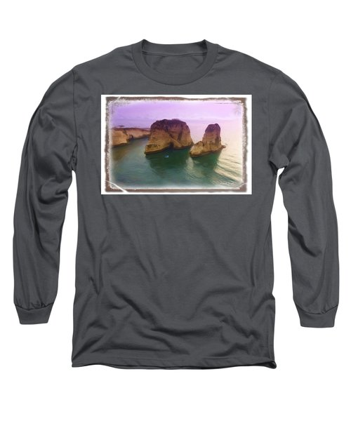 Do-00404 Grotte Aux Pigeons Long Sleeve T-Shirt by Digital Oil