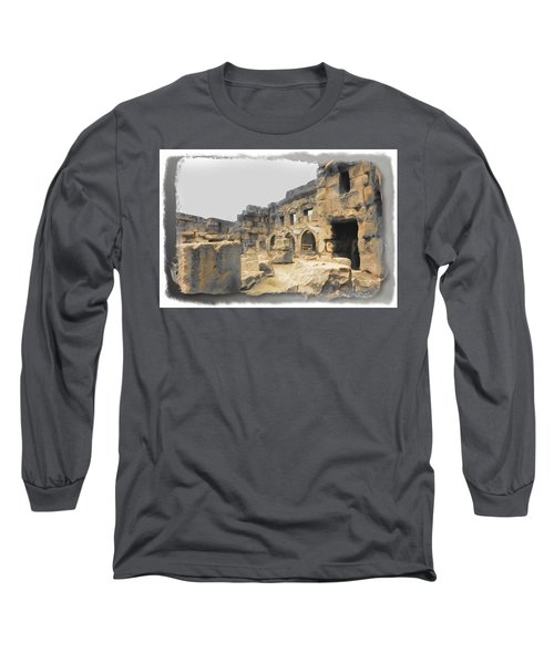 Long Sleeve T-Shirt featuring the photograph Do-00452 Inside The Ruins by Digital Oil