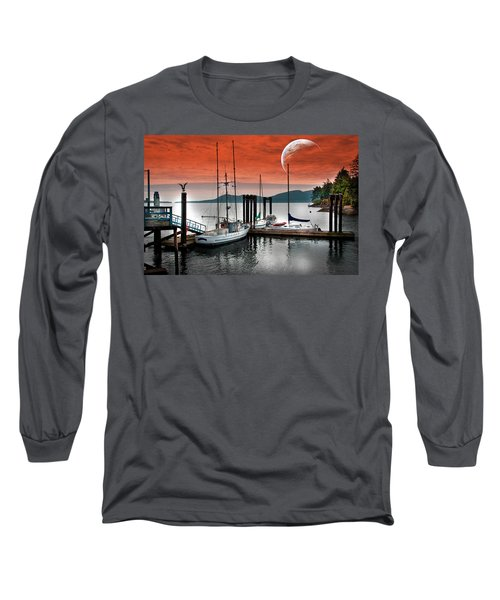 Dock And The Moon Long Sleeve T-Shirt