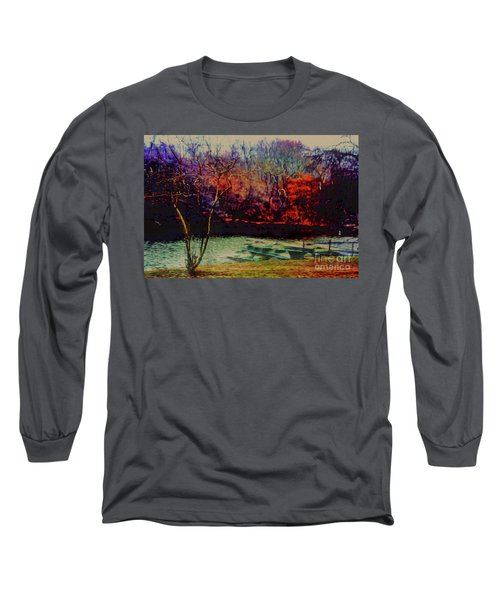 Long Sleeve T-Shirt featuring the photograph Dock At Central Park by Sandy Moulder